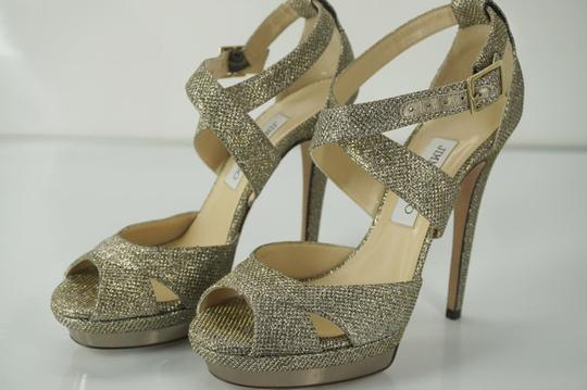 Jimmy Choo 429569895368 Pump Glitter Lame New With Out Box Beige Sandals