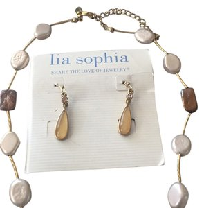Lia sophia necklace and earrings