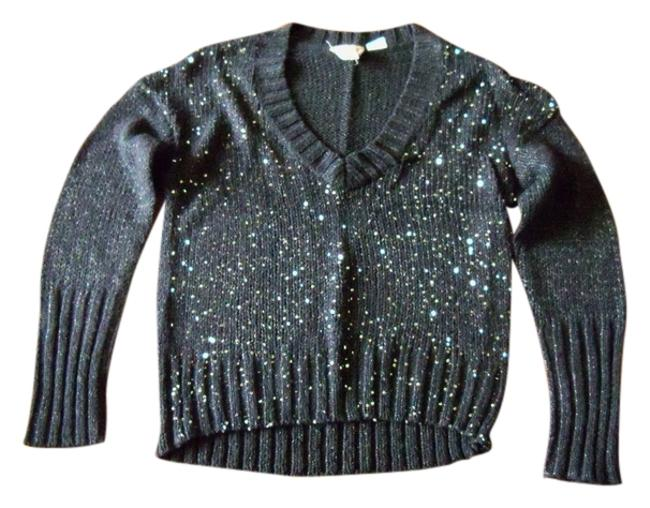 Preload https://img-static.tradesy.com/item/13388131/mudd-black-with-sequins-festive-sweaterpullover-size-14-l-0-1-650-650.jpg