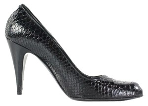 Coach Stela Embossed Python Leather Black Pumps