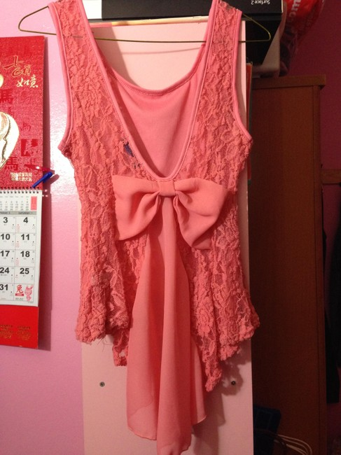 Other Peplum Top Coral Pink