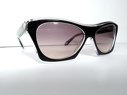 Givenchy Givenchy Faceted Plastic Rectangle Black Crystal : MSRP $395