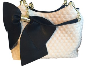 Betsey Johnson Bow Quilted Tiny Hearts Shoulder Bag
