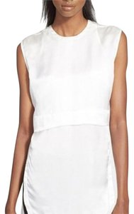 Helmut Lang Silk Sleeveless Top White