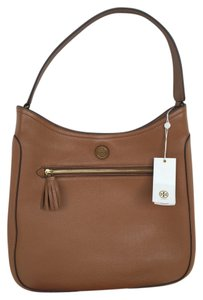 Tory Burch Leather Black Britten Hobo Bag