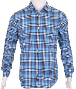 Burberry Men's Shirt Plaid Shirt Plaid Shirt Button Down Shirt Multi-Color