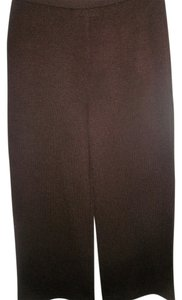 St. John Wide Leg Pants Brown