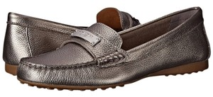 Coach Pewter Metallic Flats