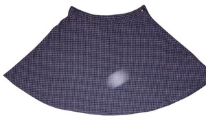 Anerican Apparel Skirt Black And Grey Houndstooth