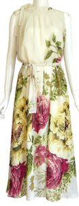 Roberto Cavalli Silk Maxi Floral Sleeveless Dress