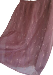 esperanto 100% Silk Sheer Skirt light plum