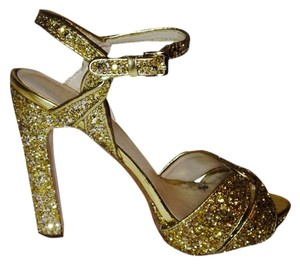 Nine West Gold Platforms