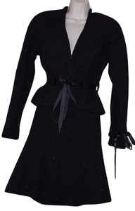 Karen Kane KAREN KANE LIFESTYLE BLACK WOOL BLEND LINED WOMEN SKIRT SUIT SIZE 4