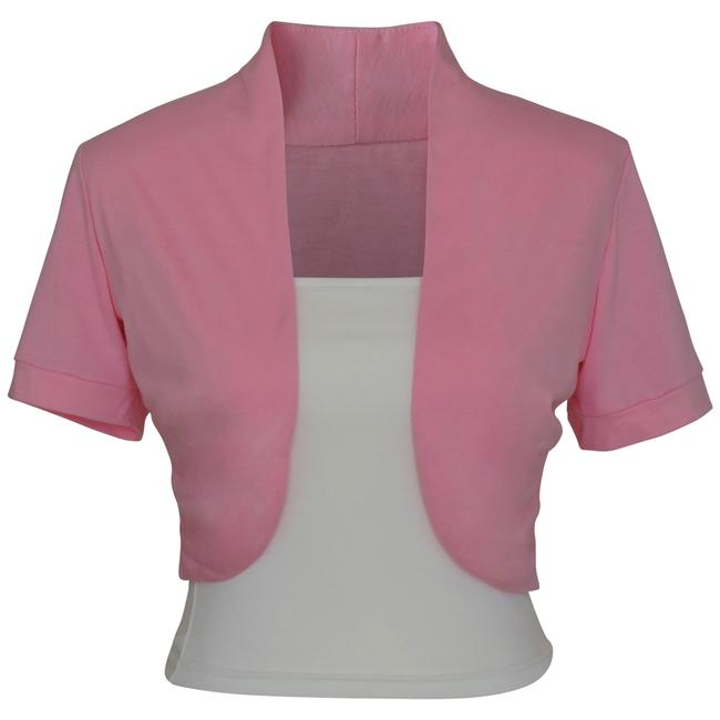 Preload https://item1.tradesy.com/images/pink-short-sleeve-bolero-shrug-w-tube-top-2-separate-pieces-spring-jacket-size-14-l-133920-0-1.jpg?width=400&height=650