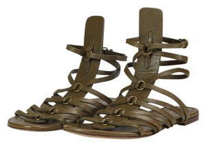 Saint Laurent 175654 Green Sandals
