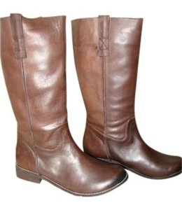 Mia Shoes Brown Leather Boots