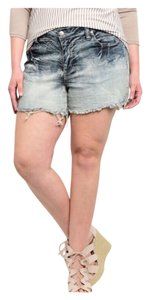 Curvy Plus Women Junior Shorts Acid wash