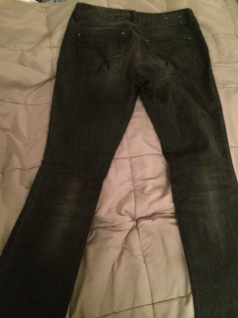 dELiA*s Stretchy Distressed Straight Leg Jeans-Medium Wash