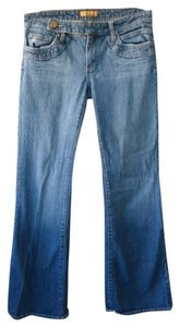 See Thru Soul Retro Wide Hem Flare Leg Jeans-Medium Wash