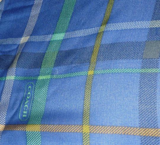 Coach Coach Tattersall Plaid Infinity LOOP Check scarf RARE 83286