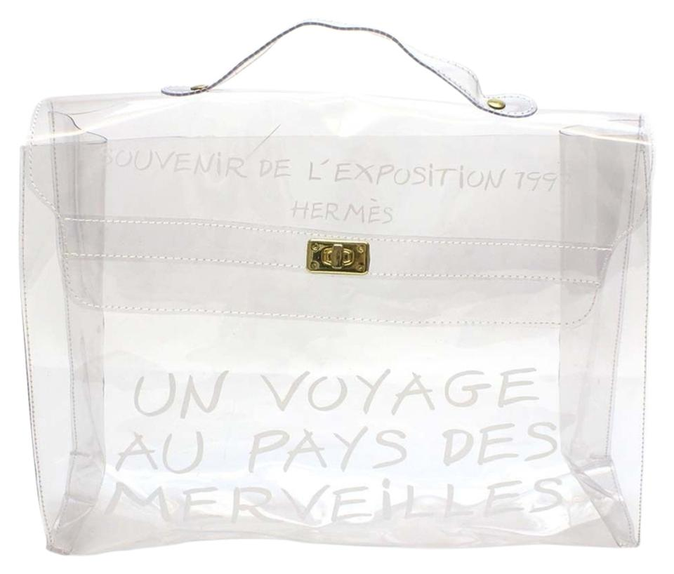 783c99568720 Hermès Hand Kelly Kelly Vinyl Satchel in Clear Image 0 ...