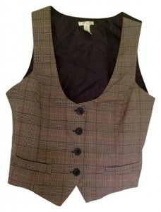 Ambiance Apparel Button Down Shirt Chocolate and grey tan