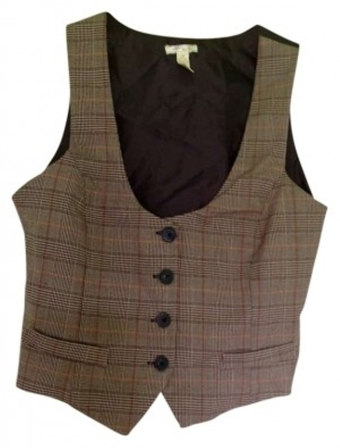 Preload https://img-static.tradesy.com/item/133948/ambiance-apparel-chocolate-and-grey-tan-button-down-top-size-8-m-0-0-650-650.jpg