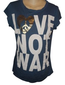 One Clothing Victoria's Secret Pink Venice 291 Sundry Rebel Yell T Shirt BLUEW