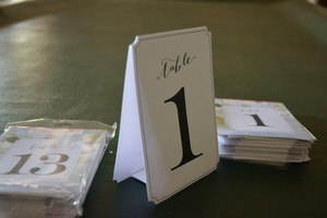 24 Cardstock Fold Up Table Numbers