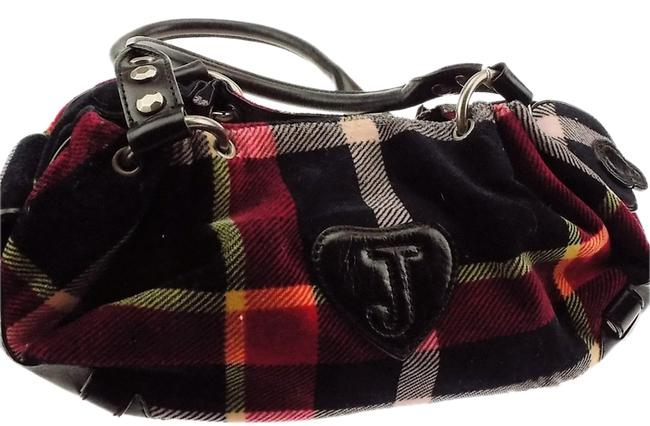 Item - Hobo Tote with Dust Red/ Blue Multi Fabric/Leather Shoulder Bag
