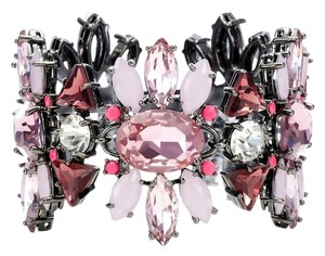 Juicy Couture JUICY COUTURE Multi Stone Cluster Flex Bracelet Hematite