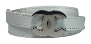 Chanel Chanel Interlocking CC Skinny White Belt