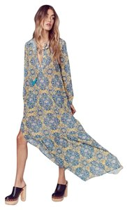 Gold Print Maxi Dress by For Love & Lemons Geneva