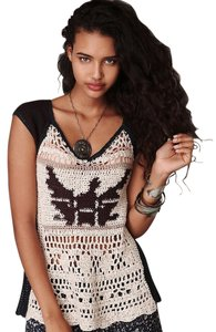 Free People Free Bird Crochet Sz M Sweater