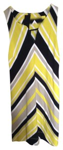 Banana Republic short dress Yellow, black, white on Tradesy