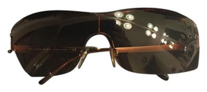 Burberry Chic Shield Style Brown lenses rimless sunglasses
