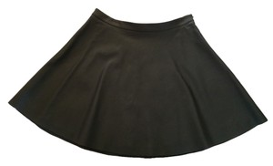 Vince Camuto Faux Leather Perforated Mini Skirt Black