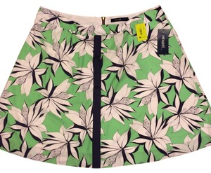 Eloquii by The Limited Floral Quality Skirt Green with Flower Print