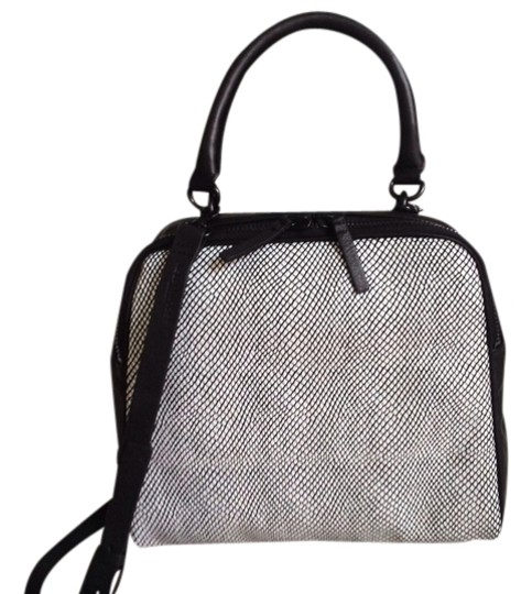 Kelsi Dagger Top Handle / Leather Satchel in Black and White