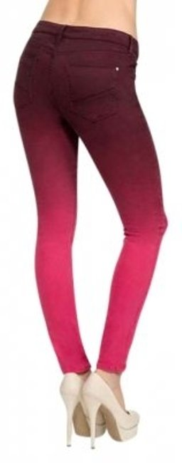 Preload https://item1.tradesy.com/images/justfab-fuchsia-ombre-skinny-jeans-size-29-6-m-133980-0-0.jpg?width=400&height=650