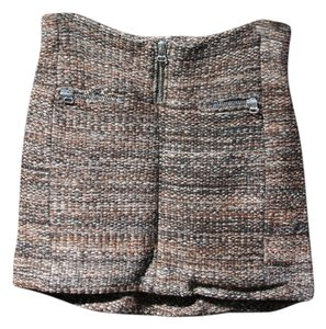 Isabel Marant Woven Zippers Mini Skirt brown