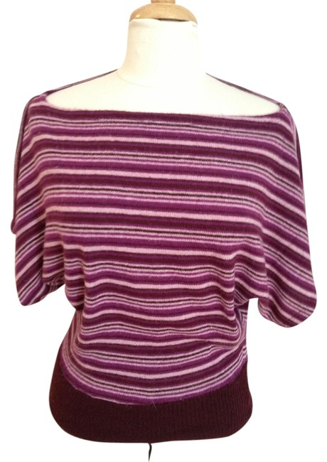 Preload https://img-static.tradesy.com/item/1339853/ella-moss-size-s-purple-and-berry-striped-sweater-0-0-650-650.jpg