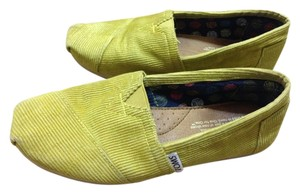 TOMS Lime Green Corduroy Flats