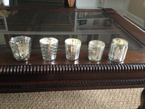 West Elm Mercury Glass Candleholders Votive/Candle
