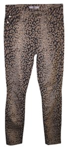 7 For All Mankind Skinny Pants Black beige leopard print