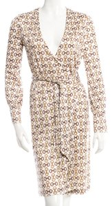 Gucci short dress Beige, White, Brown Monogram Horsebit Wrap on Tradesy