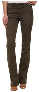 Sanctuary Clothing Flare Corduroy Flare Pants Olive Brown