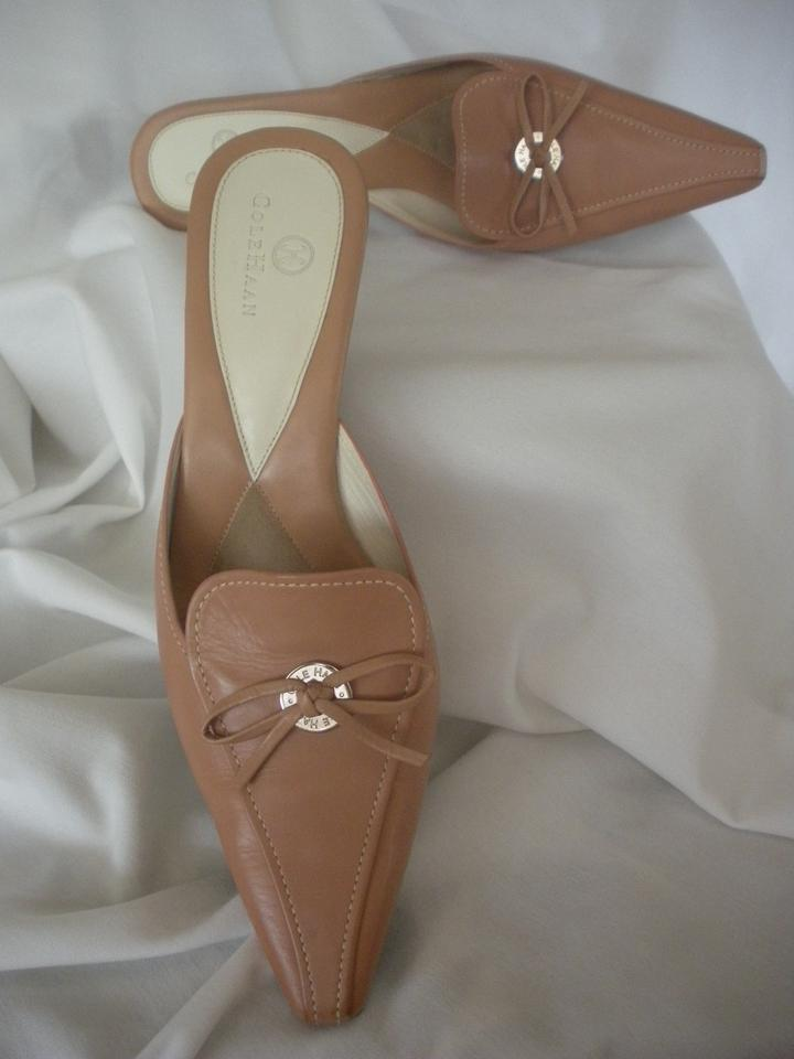 lady Cole Haan Champagne Champagne Haan Mules/Slides Excellent 05e5e0