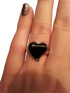 Onyx Nite Very unique black onyx Heart ring 925