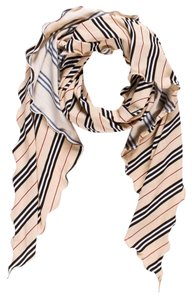 Burberry Beige, black, red Burberry monogram striped sarong New